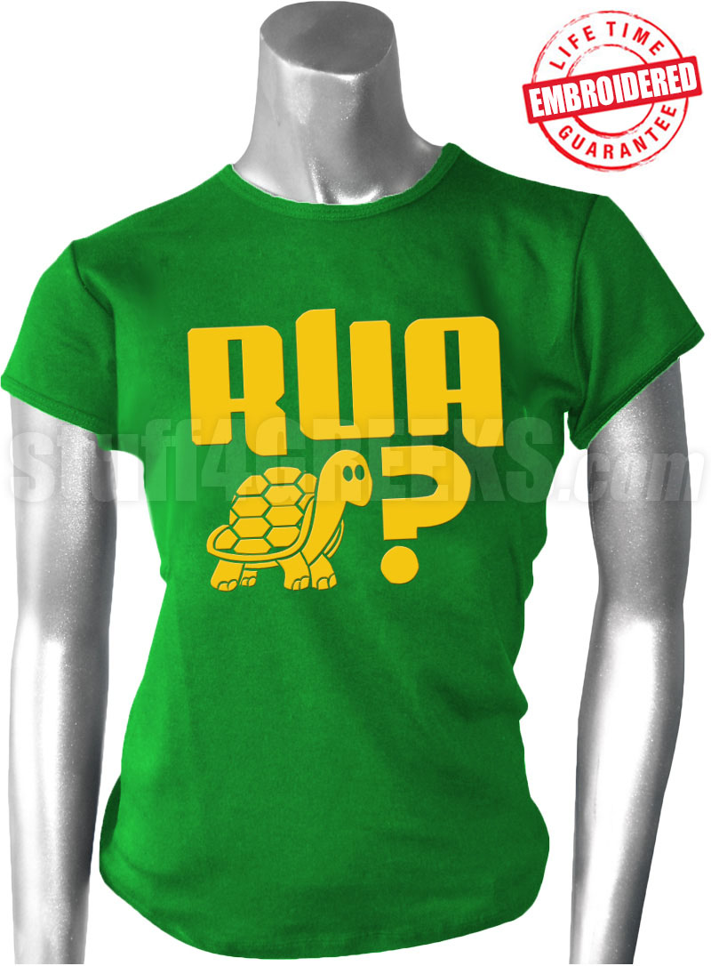 Are You A Turtle Kelly Green T Shirt With Gold Letters