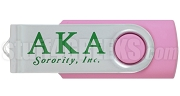 Alpha Kappa Alpha 4G USB Flash Drive with Greek Letters, Pink - CURRENTLY UNAVAILABLE