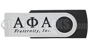 Alpha Phi Alpha 4G USB Flash Drive with Greek Letters, Black