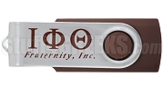 Iota Phi Theta 4G USB Flash Drive with Greek Letters, Brown