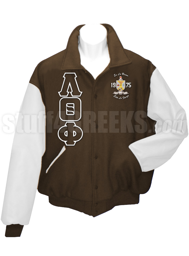 Lambda Theta Phi Greek Letter Varsity Letterman Jacket with ...