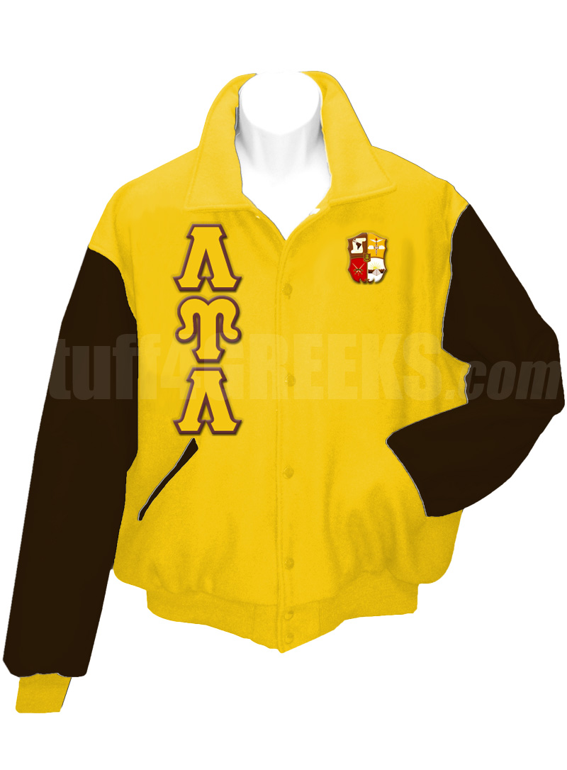 Lambda Upsilon Lambda Varsity Letterman Jacket with Greek Letters ...