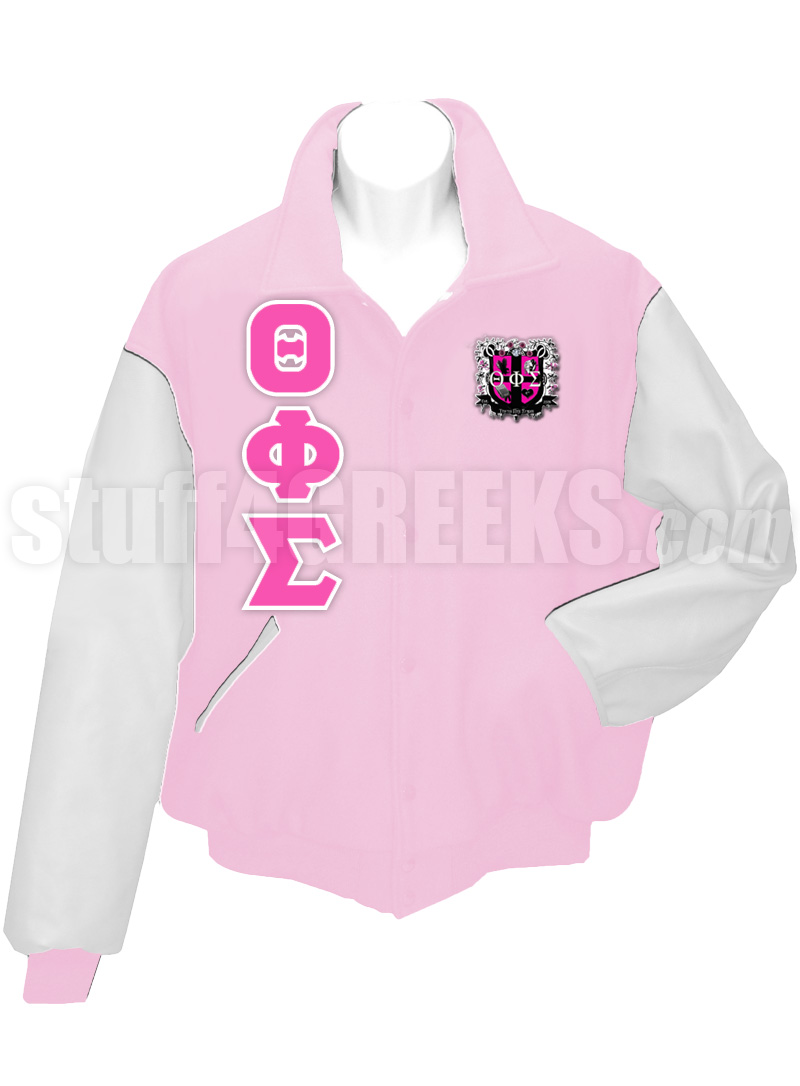 Theta Phi Sigma Varsity Letterman Jacket with Greek Letters and ...