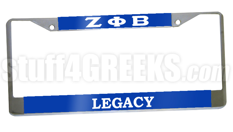 Zeta Phi Beta Legacy License Plate Frame - Zeta Phi Beta Car Tag