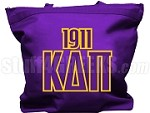 Kappa Delta Pi Tote Bag with Greek Letters and Founding Year, Purple