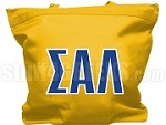 Sigma Alpha Lambda Tote Bag with Greek Letters, Gold