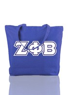 Zeta Phi Beta Triple-Layered Letter Tote Bag
