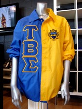Clearance: Tau Beta Sigma Two-Tone Jacket, Royal/Gold, Size MEDI - no longer availableUM