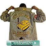 Deluxe Line Jacket: Includes Front, Sleeves, Collar, Back, Artwork on Back, and Bottom Icons