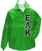 Epsilon Lambda Kappa Greek Letter Line Jacket, Kelly Green