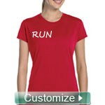 Custom Fitted Athletic Performance Screen Printed T-Shirt (Ladies Short Sleeve)