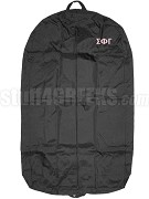 Sigma Phi Gamma Garment Bag with Greek Letters, Black