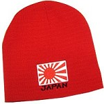 Japan Knit Beanie Hat, Red