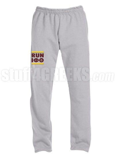 Iota Phi Theta Run DMC Screen Printed Sweatpants, Sports Grey (AB)