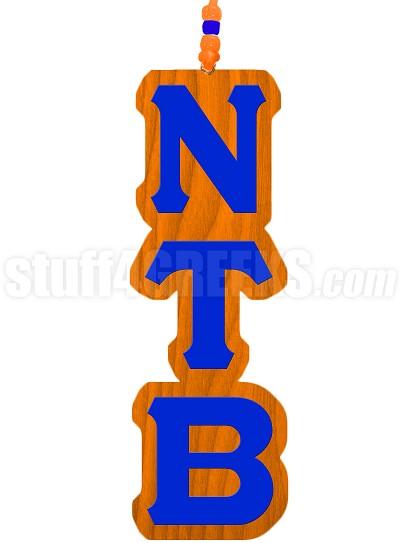 Nu Tau Beta Greek Letter Tiki Necklace