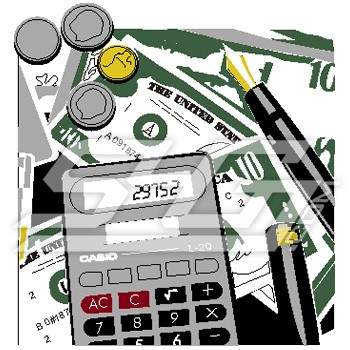 Calculator and Money Icon