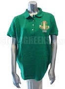 Alpha Kappa Alpha Crest Polo, Kelly Green