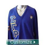 Custom Greek V-Neck Sweater