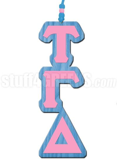Tau Gamma Delta Greek Letter Tiki Necklace