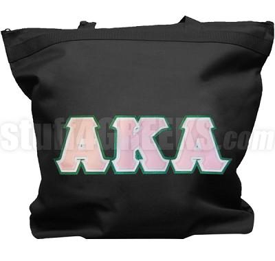 alpha kappa alpha triple letter tote bag