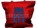 Epsilon Gamma Iota Tote Bag with Greek Letters and Founding Year, Red