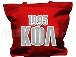 Kappa Phi Lambda Tote Bag with Greek Letters and Founding Year, Red