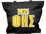 Phi Eta Sigma Tote Bag with Greek Letters and Founding Year, Black