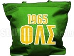 Phi Lambda Sigma Tote Bag with Greek Letters and Founding Year, Kelly Green
