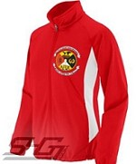 Lambda Pi Chi Large Crest Track Jacket, Red/White