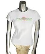 AKA Standards Ladies Fitted Tee, White
