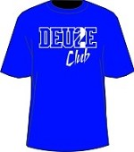 Deuce Club T-Shirt, Royal/White