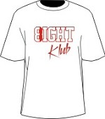 8/Eight Klub T-Shirt, White/Red