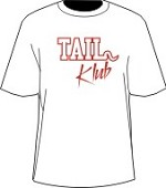 Tail Klub T-Shirt, White/Red