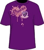 Gamma Metallic Vintage T-Shirt, Purple