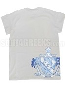 Lambda Sigma Upsilon Side Crest T-Shirt, White
