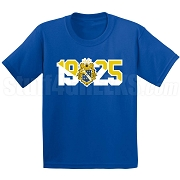 Alpha Phi Omega Screen Printed T-Shirt with Crest and Founding Year, Royal Blue
