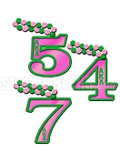 Alpha Kappa Alpha Line Number Tiki with Letters on Number (Customize with Your Line Number)