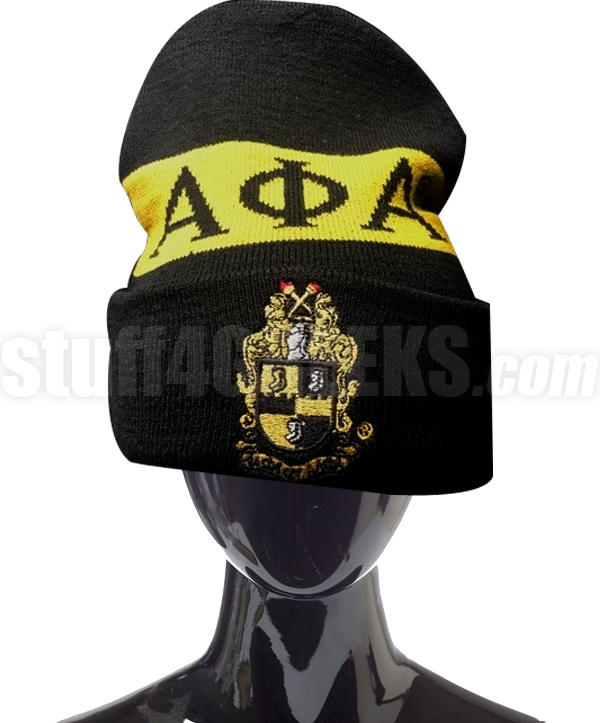 Alpha Phi Alpha Beanie Hat with Organization Name (SAV)