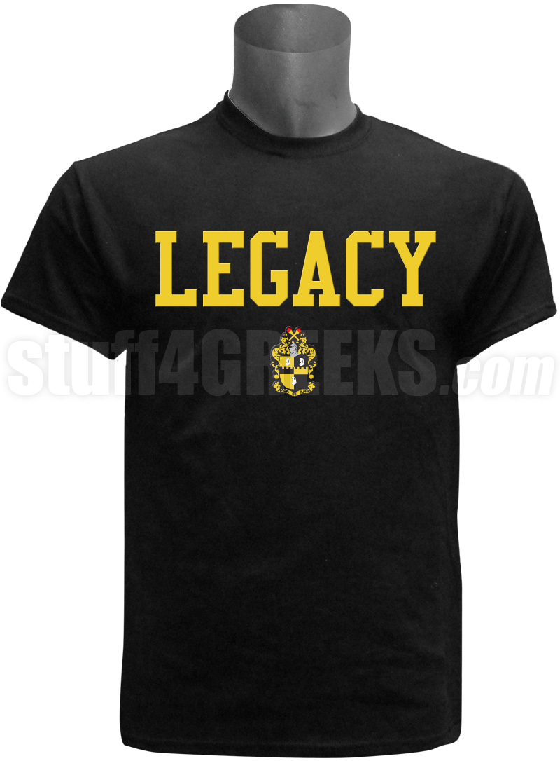 Alpha Phi Alpha Screen Printed Legacy T Shirt Black