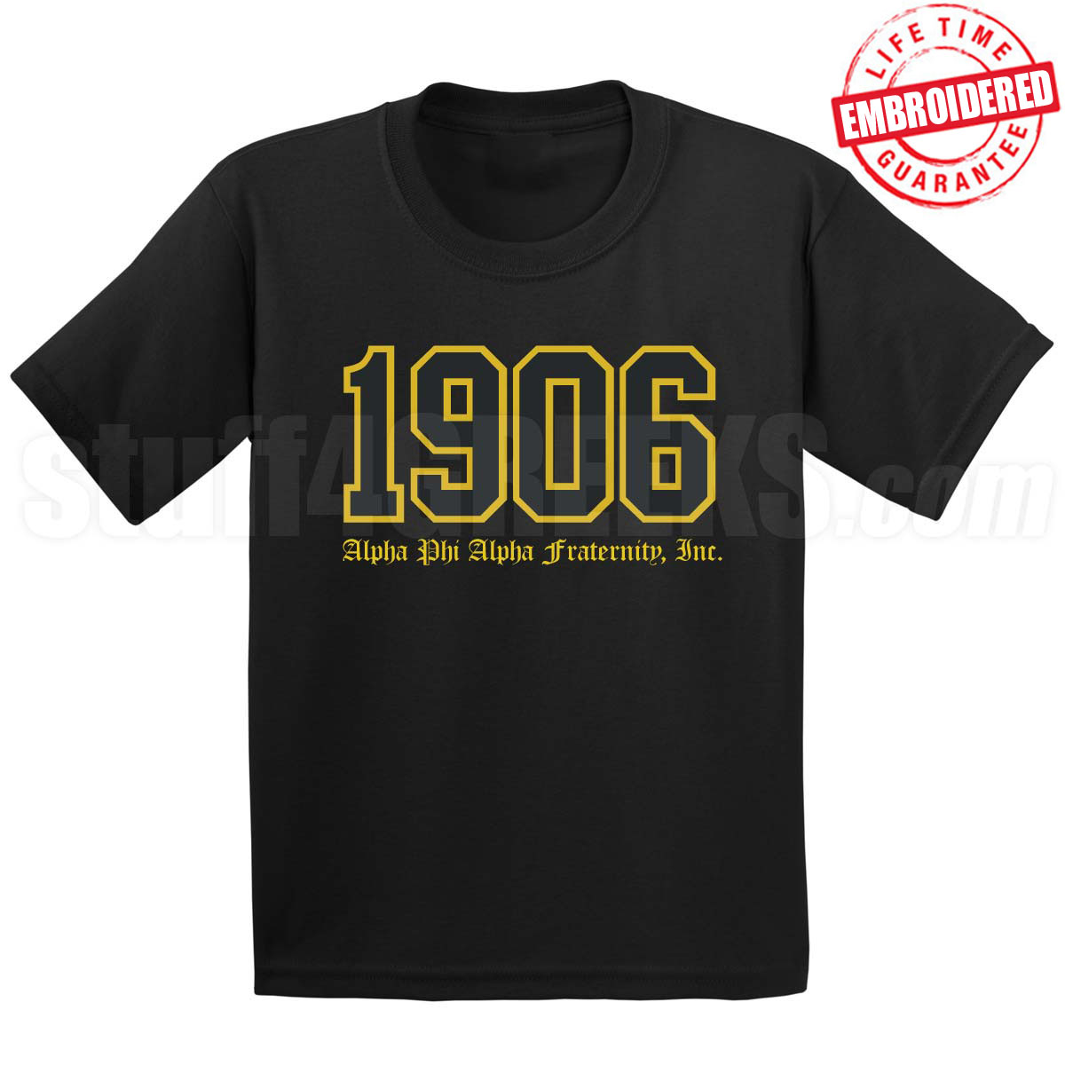 6dce16671e7 1906 Alpha Phi Alpha Old English - EMBROIDERED with Lifetime ...