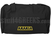 Acacia Duffel Bag with Organization Name, Black