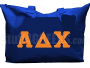 Alpha Delta Chi Tote Bag with Greek Letters, Royal Blue