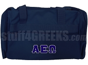 Alpha Epsilon Omega Greek Letter Duffel Bag, Navy Blue