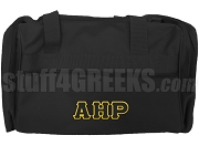 Alpha Eta Rho Greek Letter Duffel Bag, Black