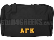 Alpha Gamma Kappa Greek Letter Duffel Bag, Black
