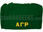 Alpha Gamma Rho Greek Letter Duffel Bag, Forest Green