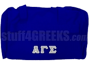 Alpha Gamma Sigma Greek Letter Duffel Bag, Royal Blue