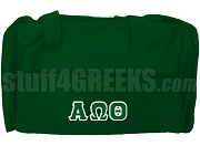 Alpha Omega Theta Christian Fraternity Duffel Bag, Dark Green