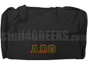 Alpha Omega Theta Duffel Bag, Black