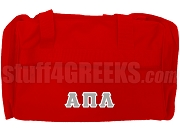 Alpha Pi Lambda Greek Letter Duffel Bag, Red